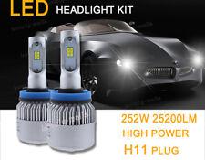 2X H11 H9 H8 252W 25200LM CSP LED Low Beam Headlight Conversion Kit 6000K White