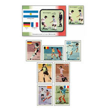 NIC86082 Football block and 8 stamps MNH NICARAGUA 1986