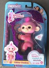 Fingerlings Pink Rose GLITTER Baby Pet Monkey and Blanket Girl Amazon Exclusive