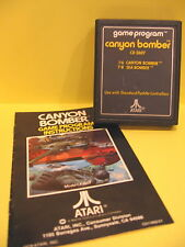 Canyon Bomber Sea Bomber Atari 2600 CX-2607 with Instructions 1978 Used