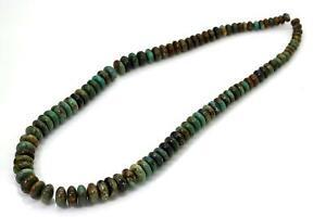 Natural Genuine Arizona Turquoise Smooth Rondelle Loose Gemstone Beads PGS280