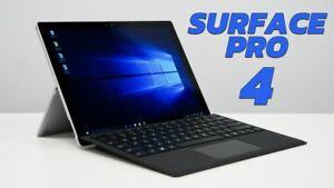 Microsoft Surface Pro 4 256GB SSD i5 6300U 2.4Ghz 8GB Win 10 Pro With Keyboard