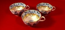 THREE MILES MASON Footed Cups Broseley Willow Blue & White Transfer c1807-1813