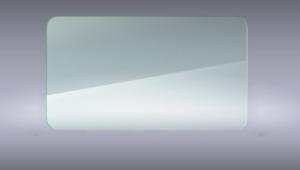 Floatglas Abgerundete Ecken R=90mm 8mm Stärke Glasplatte/Tischplatte/Glasscheibe