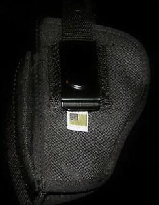Waist Holster,BLACK PERSONAL HOLSTER,Large Sidearm,Belt Clip-On,Extra Ammo Pouch