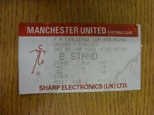 30/01/1988 Ticket: Manchester United v Chelsea [FA Cup] (folded/creased). Thanks