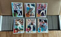 1984 Topps Baseball Set Complete 1-792 Mattingly RC Rookie Ripken Ryan NRMT MT