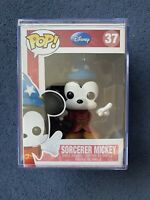 Disney Funko Pop Sorcerer Mickey No 37 Grail Minor Damage Hard Stack