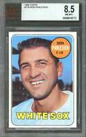 1969 topps #179 DON PAVLETICH chicago white sox (pop 1) BGS BVG 8.5