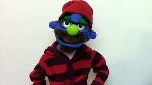 """Professional """"Blue Hipster"""" Muppet-Style Ventriloquist Puppet"""