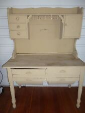 Vintage antique possum belly baker's cabinet with hutch