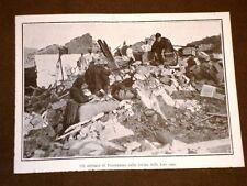 Terremoto in Calabria 23 ottobre 1907 Abitanti di Ferruzzano sulle rovine case