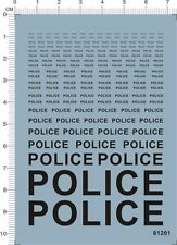 1/24 1/12 1/43 1/18 1/25 Scale Police Characters Car Model kit Water Slide Decal