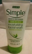 Simple Sensitive Skin Moisturizing Facial Wash Cleanses And Hydrates 5.0 oz