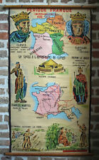 toile peinte éducative d' école charlemagne - déco loft