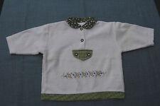 !! wie NEU!! Süßer Fleecepulli Pullover Shirt Mädchen Stickerei Gr. 74