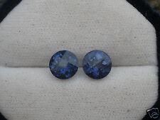 Topazio Blu Mystic 4,65 ct Magnifico Coppia Taglio Rotondo Molto Fuoco pietra pr