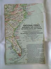 1958 National Parks Monuments & Shrines of The USA & Canada National Geographic