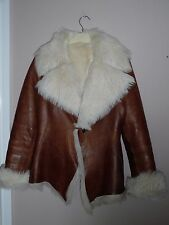 SHEEPSKIN SHEARLING TOSCANA FUR LEATHER JACKET SIZE M