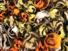 100 Animal Patterned Pom Poms