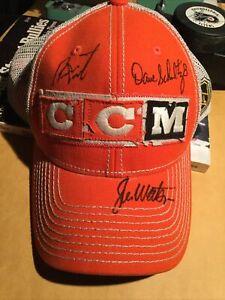 CCM Philadelphia Flyers Hat Autographed By Joe Watson Dave Schultz Bernie Parent
