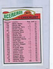 1977 Topps Mexican # 222 PITTSBURGH STEELERS  Team Checklist    ngs