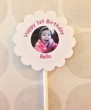 Your Photo Customized Cupcake Toppers 12 count Birthday, Wedding, Baptis, XV, 16