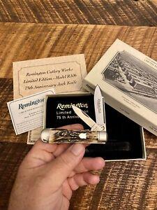 1995 Remington R106 Stag, 75TH Anniversary, 2 Blade Jack Knife, 7500 made - Rare