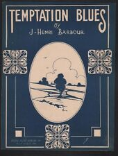 Temptation Blues 1919 J Henri/Berni Barbour Sheet Music