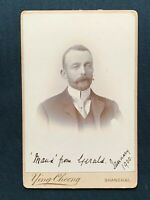 Victorian Cabinet Card, Gerald E. Budge, Photo by Ying Cheong Shanghai 1900