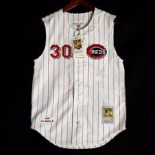 100% Authentic Ken Griffey Jr Mitchell Ness Cincinnati Reds MLB Jersey 48 XL