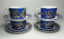 American Atelier Celebrations Coffee Cups & Saucers Set of 4 Judaica