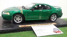 FORD MUSTANG GT 1999 verte echell 1/18 MAISTO 31860 voiture miniature collection