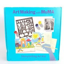 Art Making with MoMa Storytelling Art Kit Stencils Paint Brushes Jacob L.