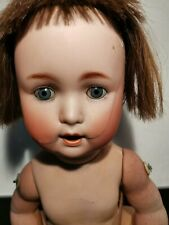 60 cm Antike Porzellankopf Puppe, Vorkrieg, gemarkt, Handarbeit zum restaurieren