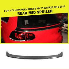 Carbon Fiber Rear Spoiler Middle Wing Factory for VW Golf 6 VI MK6 R20 GTI 10-13