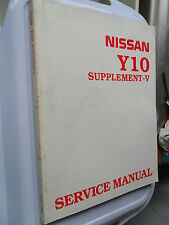NISSAN SUNNY WORKSHOP MANUAL Y10 WAGON VAN WINGROAD ORIGINAL LX SLX