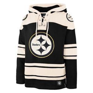 Pittsburgh Steelers NFL '47 Brand Jet Black Superior Lacer Men's Hoodie