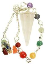 Clear Quartz 7 Chakra Pendulum Wiccan Wicca Witchcraft Supplies