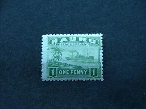 Nauru 1924 1d green SG27A MM
