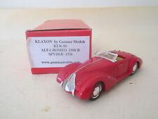 Klaxon By Gamma Models KLK-06. 1:43 Alfa Romeo 8C 2900B Pininfarina 1938 BOXED