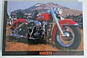 Harley Davidson Picture Postcards 30 Pack Harleys 10 Designs New & Sealed