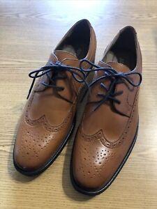 Apt.9 Mens Dress Shoes Cognac Size 11 Retail $70 (s-shoe-171)