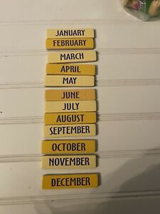 Melissa and & Doug Calendar Magnets 12 Replacement Months