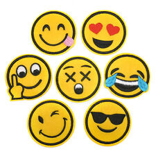 7 pcs emoji expression Iron on Patches Embroidered Badge Applique patch