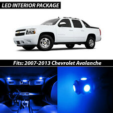 2007-2013 Chevrolet Avalanche Blue Interior LED Lights Package Kit