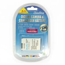 Camera Battery For PANASONIC CGA-S003 SV-AS30 SV-AS10 SV-AV50 VW-VBA05 530mAh