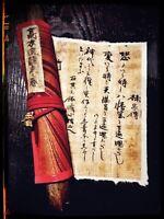 Samurai Warrior Wristband Sweatband Martial Arts Clothing Japanese Anime Writing