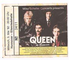 Queen    In Concert 1982    Ticket / Konzertkarte / Eintrittskarte