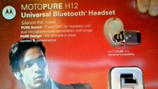 Motorola H12 Black Bluetooth Headset 2.0V with charger crystal & Car Charger Kit